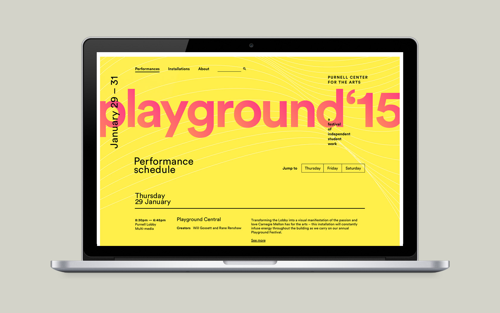 Playground — 2015 School of Drama Student Festival