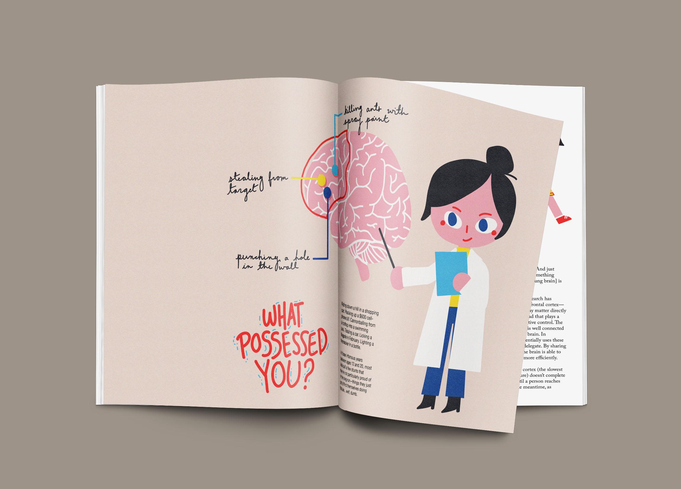 what possessed you magazine design