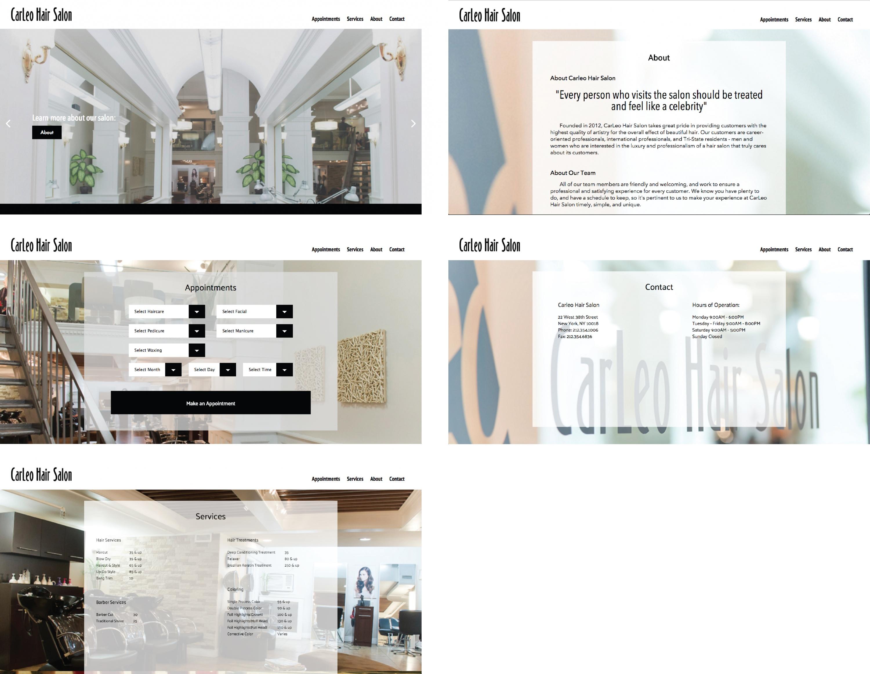 Carleo Hair Salon Website Redesign