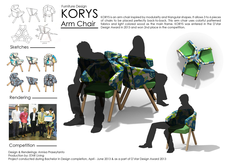 Furniture Design: KORYS Arm Chair