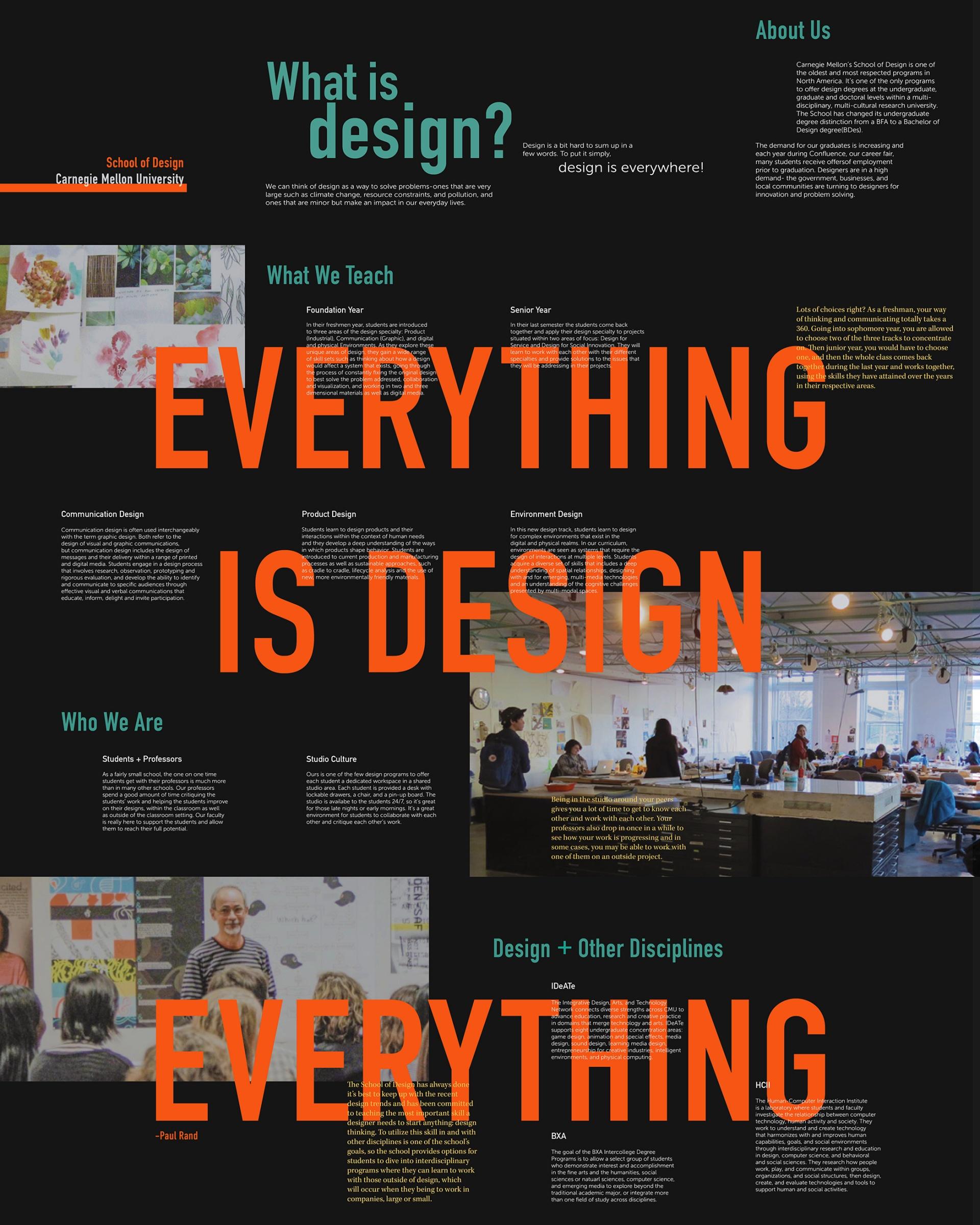 Organizing Info–School of Design Pamphlet