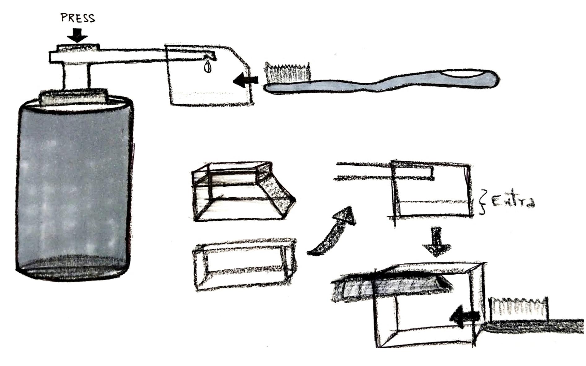 Alternate Toothpaste dispenser design sketches