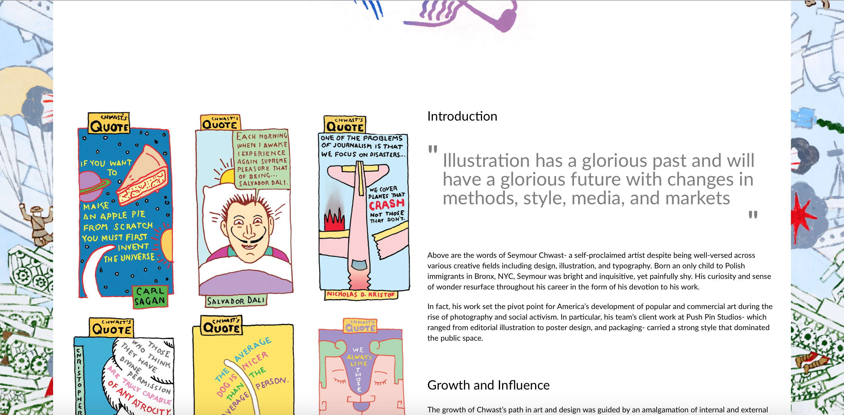 sample screenshot of the website