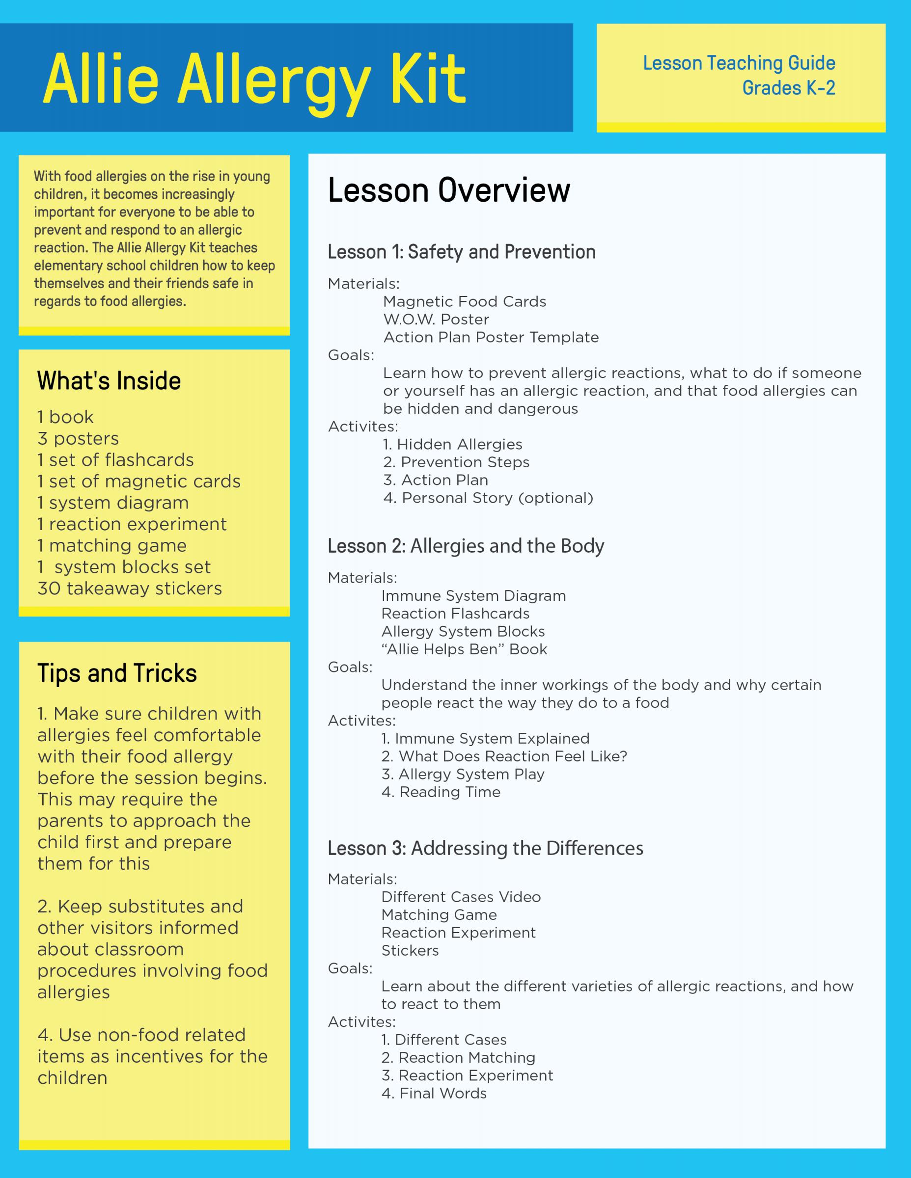 Instructions for Teacher