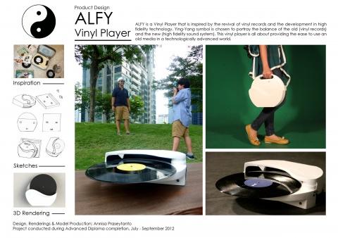 Product Design: ALFY Vinyl Player