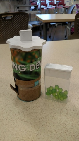 Toothpaste pellets packaging and dispenser prototype