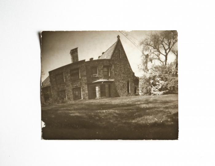 Pinhole image of a church