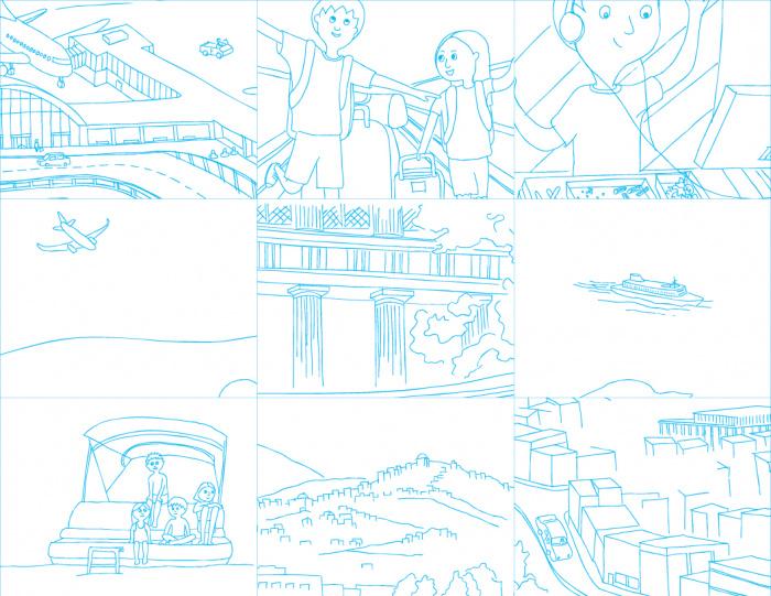 Series of 9 simple illustrations